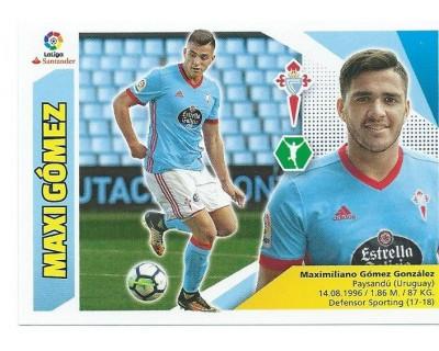 Liga Este 2017/2018 MAXI GOMEZ R.C. Celta Nº 15 TERCERA EDICION