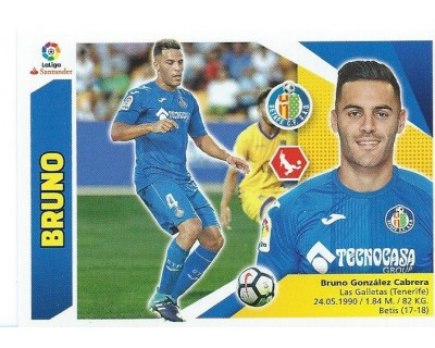 Liga Este 2017/2018 BRUNO Getafe C.F. Nº 5 TERCERA EDICION