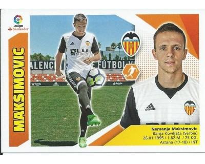 Liga Este 2017/2018 MAKSIMOVIC Valencia C.F. Nº 8 TERCERA EDICION