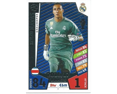 MATCH ATTAX CHAMPIONS LEAGUE 17/18 REAL MADRID CF Nº1 2