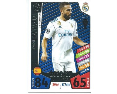 MATCH ATTAX CHAMPIONS LEAGUE 17/18 REAL MADRID CF Nº1 3