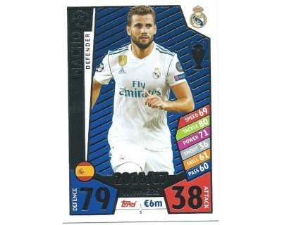 MATCH ATTAX CHAMPIONS LEAGUE 17/18 REAL MADRID CF Nº1 5