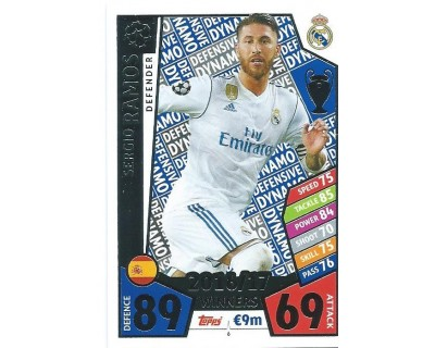 MATCH ATTAX CHAMPIONS LEAGUE 17/18 REAL MADRID CF Nº1 6