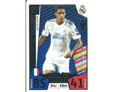 MATCH ATTAX CHAMPIONS LEAGUE 17/18 REAL MADRID CF Nº1 7