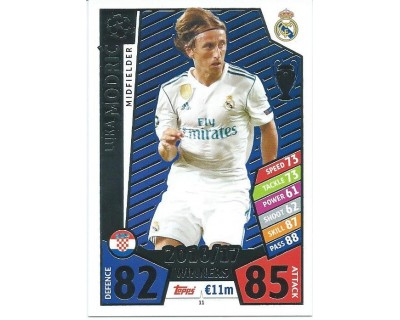 MATCH ATTAX CHAMPIONS LEAGUE 17/18 REAL MADRID CF Nº1 11