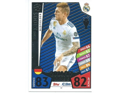 MATCH ATTAX CHAMPIONS LEAGUE 17/18 REAL MADRID CF Nº1 12