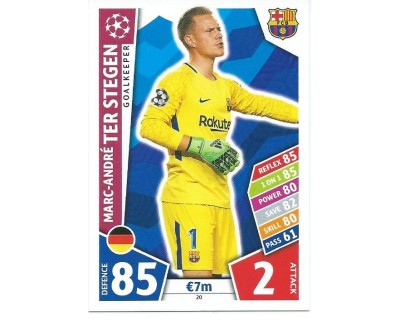 MATCH ATTAX CHAMPIONS LEAGUE 17/18 FC BARCELONA Nº 20