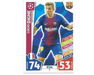 MATCH ATTAX CHAMPIONS LEAGUE 17/18 FC BARCELONA Nº 21