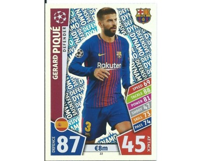 MATCH ATTAX CHAMPIONS LEAGUE 17/18 FC BARCELONA Nº 22