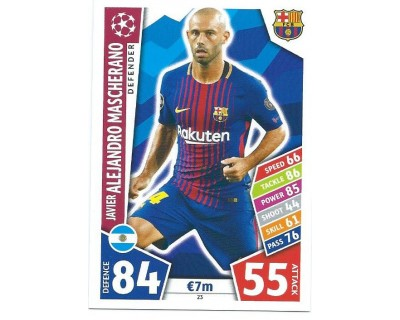 MATCH ATTAX CHAMPIONS LEAGUE 17/18 FC BARCELONA Nº 23