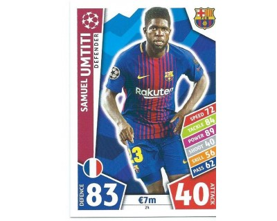MATCH ATTAX CHAMPIONS LEAGUE 17/18 FC BARCELONA Nº 24