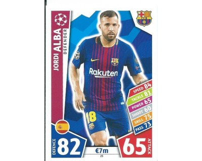 MATCH ATTAX CHAMPIONS LEAGUE 17/18 FC BARCELONA Nº 25