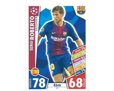 MATCH ATTAX CHAMPIONS LEAGUE 17/18 FC BARCELONA Nº 26