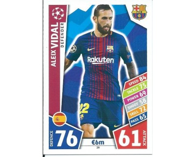 MATCH ATTAX CHAMPIONS LEAGUE 17/18 FC BARCELONA Nº 28