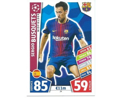 MATCH ATTAX CHAMPIONS LEAGUE 17/18 FC BARCELONA Nº 29