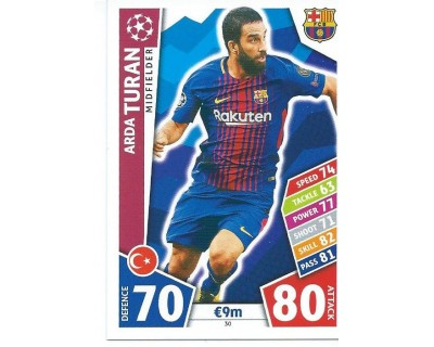 MATCH ATTAX CHAMPIONS LEAGUE 17/18 FC BARCELONA Nº 30