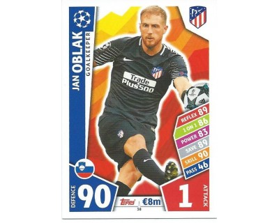 MATCH ATTAX CHAMPIONS LEAGUE 17/18 ATLETICO DE MADRID Nº 38