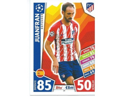 MATCH ATTAX CHAMPIONS LEAGUE 17/18 ATLETICO DE MADRID Nº 39