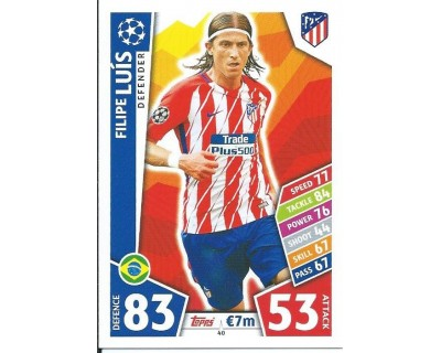 MATCH ATTAX CHAMPIONS LEAGUE 17/18 ATLETICO DE MADRID Nº 40