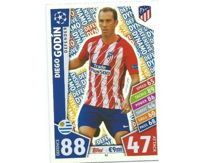 MATCH ATTAX CHAMPIONS LEAGUE 17/18 ATLETICO DE MADRID Nº 41