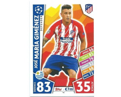 MATCH ATTAX CHAMPIONS LEAGUE 17/18 ATLETICO DE MADRID Nº 42