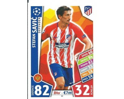 MATCH ATTAX CHAMPIONS LEAGUE 17/18 ATLETICO DE MADRID Nº 43