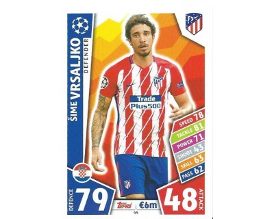 MATCH ATTAX CHAMPIONS LEAGUE 17/18 ATLETICO DE MADRID Nº 44