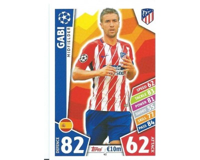 MATCH ATTAX CHAMPIONS LEAGUE 17/18 ATLETICO DE MADRID Nº 45