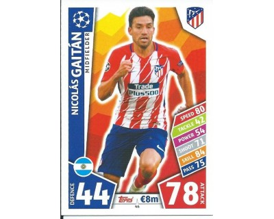 MATCH ATTAX CHAMPIONS LEAGUE 17/18 ATLETICO DE MADRID Nº 46