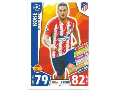 MATCH ATTAX CHAMPIONS LEAGUE 17/18 ATLETICO DE MADRID Nº 48