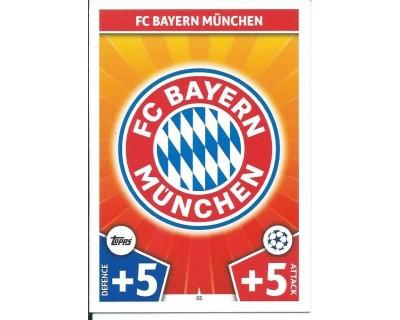 MATCH ATTAX CHAMPIONS LEAGUE 17/18 FC BAYERN MÜNCHEN Nº 55
