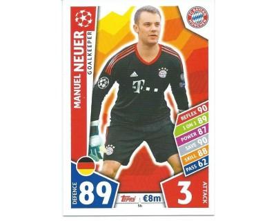 MATCH ATTAX CHAMPIONS LEAGUE 17/18 FC BAYERN MÜNCHEN Nº 56