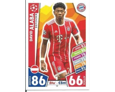 MATCH ATTAX CHAMPIONS LEAGUE 17/18 FC BAYERN MÜNCHEN Nº 58