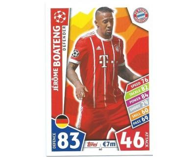 MATCH ATTAX CHAMPIONS LEAGUE 17/18 FC BAYERN MÜNCHEN Nº 60