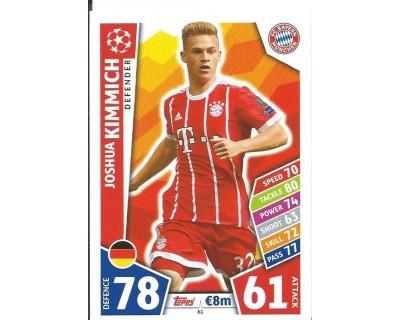 MATCH ATTAX CHAMPIONS LEAGUE 17/18 FC BAYERN MÜNCHEN Nº 61