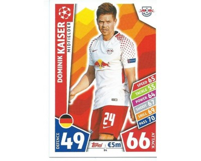 MATCH ATTAX CHAMPIONS LEAGUE 17/18 RB LEIPZIG Nº 84