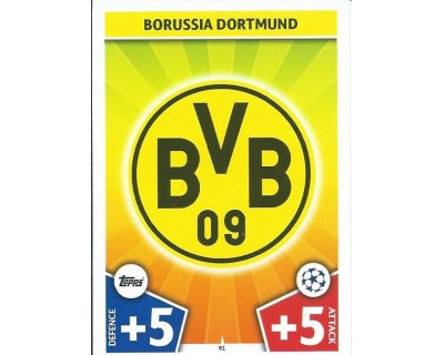 MATCH ATTAX CHAMPIONS LEAGUE 17/18 BORUSSIA DORTMUND Nº 91