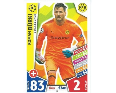 MATCH ATTAX CHAMPIONS LEAGUE 17/18 BORUSSIA DORTMUND Nº 92