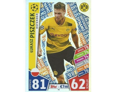 MATCH ATTAX CHAMPIONS LEAGUE 17/18 BORUSSIA DORTMUND Nº 93