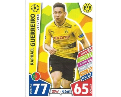 MATCH ATTAX CHAMPIONS LEAGUE 17/18 BORUSSIA DORTMUND Nº 94