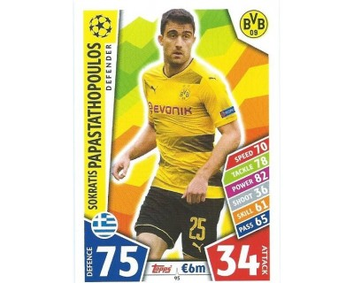 MATCH ATTAX CHAMPIONS LEAGUE 17/18 BORUSSIA DORTMUND Nº 95