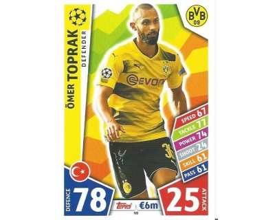 MATCH ATTAX CHAMPIONS LEAGUE 17/18 BORUSSIA DORTMUND Nº 98