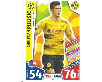 MATCH ATTAX CHAMPIONS LEAGUE 17/18 BORUSSIA DORTMUND Nº 99
