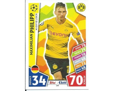 MATCH ATTAX CHAMPIONS LEAGUE 17/18 BORUSSIA DORTMUND Nº 100