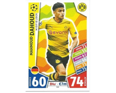 MATCH ATTAX CHAMPIONS LEAGUE 17/18 BORUSSIA DORTMUND Nº 101