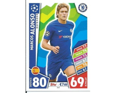 MATCH ATTAX CHAMPIONS LEAGUE 17/18 CHELSEA FC Nº 112