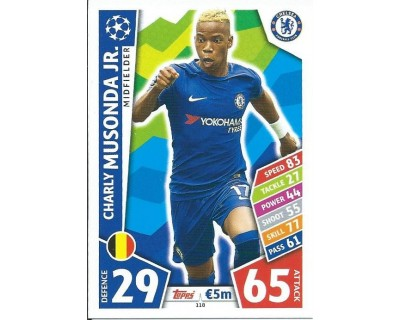 MATCH ATTAX CHAMPIONS LEAGUE 17/18 CHELSEA FC Nº 118