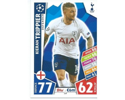 MATCH ATTAX CHAMPIONS LEAGUE 17/18 TOTTENHAM HOTSPUR Nº 129