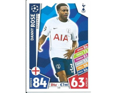 MATCH ATTAX CHAMPIONS LEAGUE 17/18 TOTTENHAM HOTSPUR Nº 130