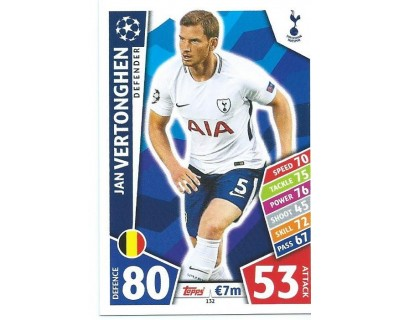 MATCH ATTAX CHAMPIONS LEAGUE 17/18 TOTTENHAM HOTSPUR Nº 132